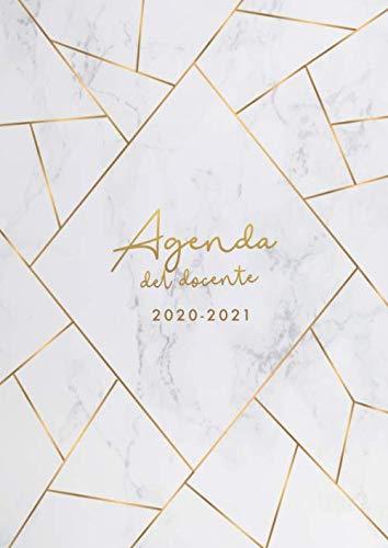 Agenda del Docente 2020/2021: Da settembre 2020 a giugno 2021- formato A4 - marmo grigio e strisce