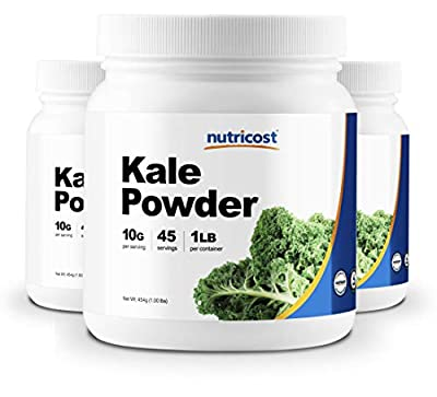 Nutricost Kale Powder 1LB (3 Bottles) - All Natural, Non-GMO, Gluten Free, Pure, Premium Kale