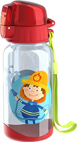 HABA 303695 Trinkflasche Feuerwehr Kinder-Trinkflasche für Feuerwehr-Fans 400ml