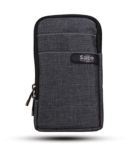 Saco Unisex Multipurpose Holster Travel Bag Vertical Pouch with Belt Loop and Shoulder Rope is Compatible with Sony MP-CD1 Compact Pocket Size Mobile Projector - (Grey)