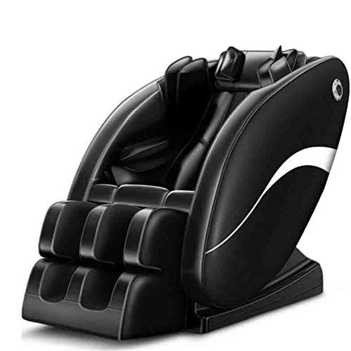 CSPFAIZA Massagesessel Intelligent Elektrisches Sofa mit Wärmefunktion, Shiatsu-Massage, Ganzkörper Kneten - Schwarz - Keine Notwendigkeit Zu Installieren