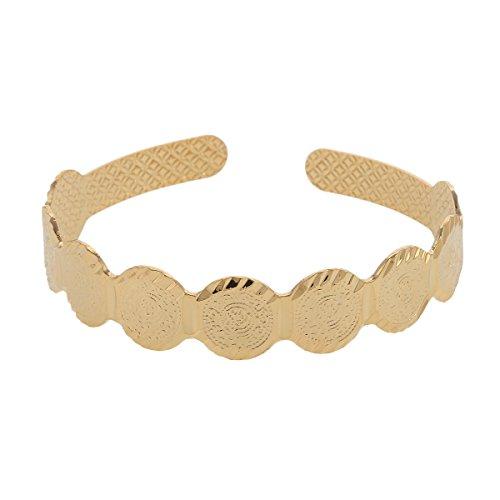 Medaille Armreif Frauen Mitte Eastern Jewelry New arabischen Ethnic Gold Farbe Armbänder Schmuck Geschenk