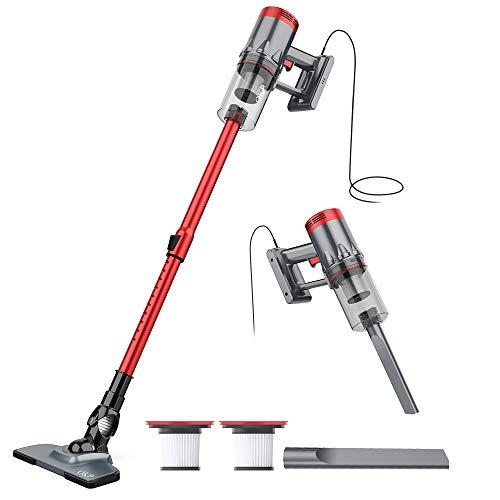 Vacuum Cleaner Corded 17KPa Suction Handheld & Stick Vacuum, Lightweight & Versatile with Metal filter and HEPA for Hardwood Floor Pet Hair