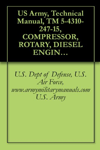US Army, Technical Manual, TM 5-4310-247-15, COMPRESSOR, ROTARY, DIESEL ENGINE DRIVEN TRAILER MTD., 250 CFM, 100 PSI, (JOY MODEL RPV250DC20MS1), (FSN 4310-952-7142), ... manauals, special forces (English Edition)