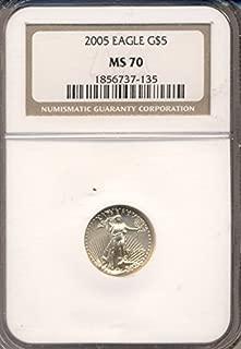 2005 P American Eagle Five Dollar MS70 NGC
