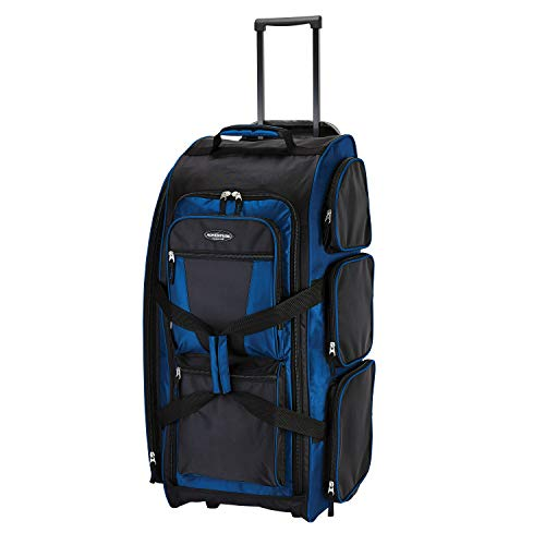 Travelers Club 30' Xpedition Upright Rolling Travel Duffel Bag, Neon Blue, Large