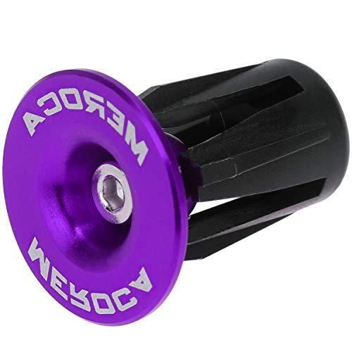 VOSAREA - Tappi terminali per manubrio della bicicletta, in lega di alluminio, per 22-24 mm, per bici da corsa, MTB, BMX, mountain bike, accessori per bicicletta, colore viola