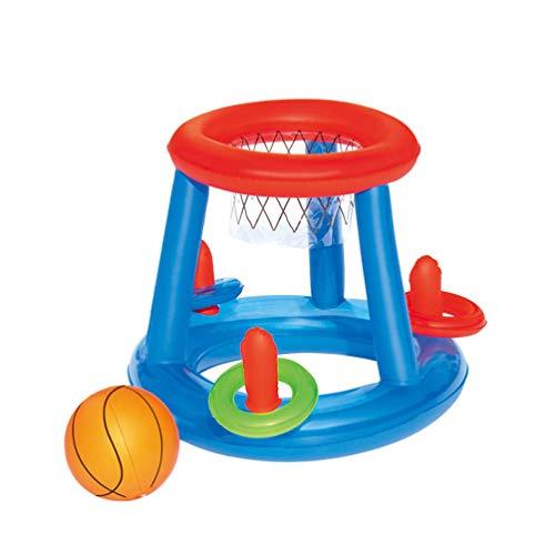 VOSAREA Wasserball Spiel Aufblasbar Basketball Korb Wurfspiel Pool Schwimmbad Sommer Wasserspielzeug Sport Spiel Outdoor Zuhause Sommerspielzeug