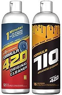Formula 420 Variety Pack : 1 Bottle Glass Metal Ceramic Pipe Original Cleaner 12 Oz. & 1 Bottle Formula 710 Advanced Cleaner 16oz (2 Bottles Total)
