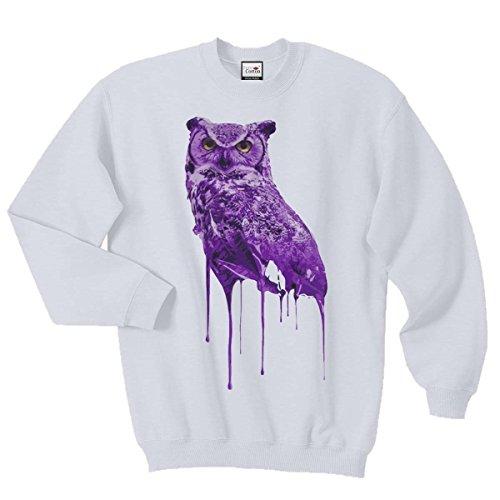 Ovoxo Sweatshirt Jumper Eule Drake Lil Wayne YMCMB Swaetshirt Fresh Dope Herren Damen Gr. L / 104,14-109,22 cm, weiß
