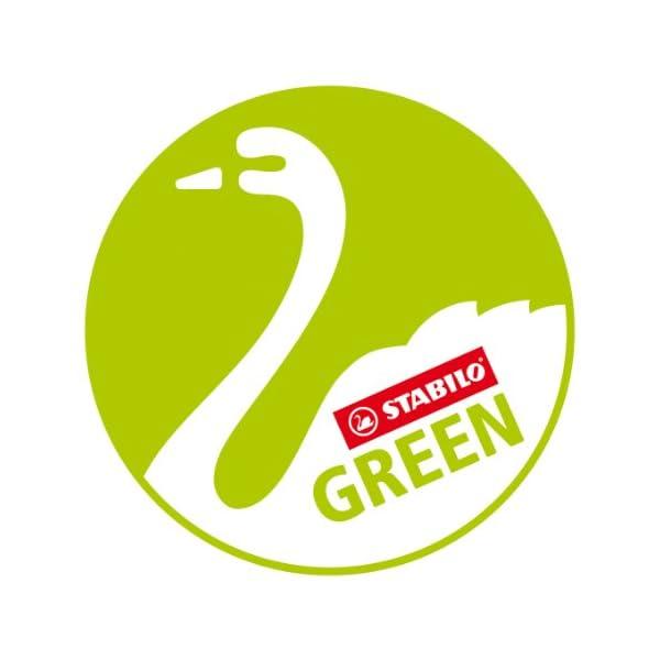 STABILO GREENcolors – Lápiz de color ecológico – Fabricado con madera certificada FSC – Estuche de 24 colores