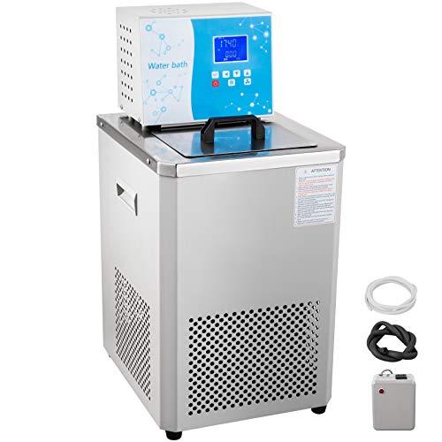 VEVOR Laboratory Chiller Circulator 6L Chiller Lab Low Temperature Cooling Liquid Circulator Pump Chiller Lab Recirculating Chiller Water Bath Recirculating Water Cooling Chiller for Laboratory