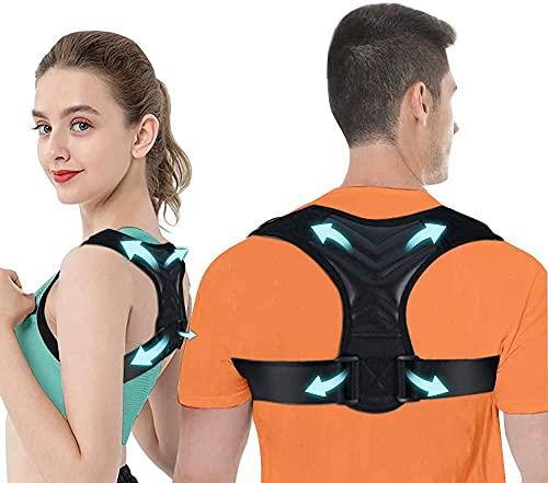 iThrough Corrector Postura Espalda, Corrector de Postura para Hombres y Mujeres Transpirable, Enderezador de Espalda Ajustable y Brinda Alivio al Dolor de Cuello, Espalda y Hombro