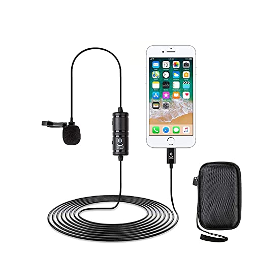 Micrófono de Solapa para iPhone/iPad(6 metros...