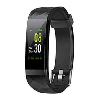 Letsfit Fitness Tracker HR, Activity Tracker Color Screen, Heart Rate Monitor, Sleep Monitor Step Counter, Calorie Counter, Pedometer IP68 Smartwatch for Kids Women Men