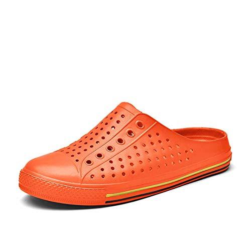 SAGUARO Sandalen Strandschuhe Wasserschuhe Badeschuhe Flach Aqua Slippers Beach Schuhe Unisex-Erwachsene Orange Gr.40