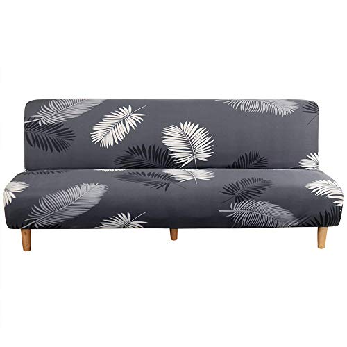 TOPCHANCES Armless Futon Sofa Cover ,Stretch Folding Sofa Bed Cover Without Armrests ,Removable Machine Washable 3 Seater Armless Sofa Covers (Sofa Length 70.87-82.68 inch) (Pattern#2599)