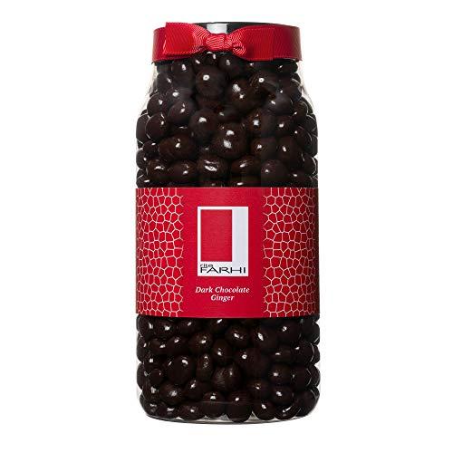 Photo of Rita Farhi Dark Chocolate Covered Ginger in a Gift Jar, 850 g