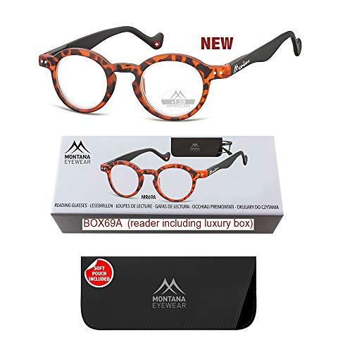Montana Eyewear Lesebrille MR69A - braun gefleckt - +1,50 Dpt.