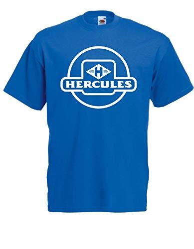 T-Shirt - Mofa Moped Hercules (Blau, XS)