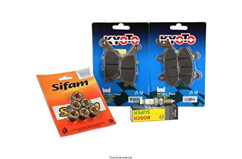 Kymco Agility Revisieset voor 125 cc van 2008 tot 2012 Kitrev020, Revisieset, bestaande uit: plaatjes voor, platen achter, kiezelstenen, kaars bosh en riem