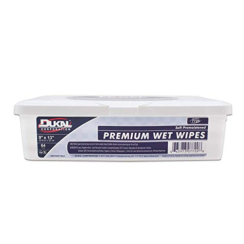 Amazing Wet Wipes 9' x 13'. Pack of 64 Pre-Moistened Wipes in Hard Tub. Personal Hygiene Products with Aloe and Lanolin. Travel Wipes with Mild Fresh Scent. Hypoallergenic, Alcohol-Free.
