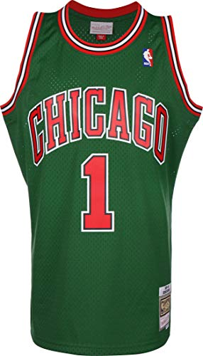 Mitchell & Ness Swingman Jersey Chicago Bulls Derrick Rose Green M