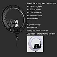 54cm Ring Light 16cm26cm 30cm 45cm Selfie Ring Light With Phone Camera Holder Photography Lighting With Tripod Remote Control For Photo Video