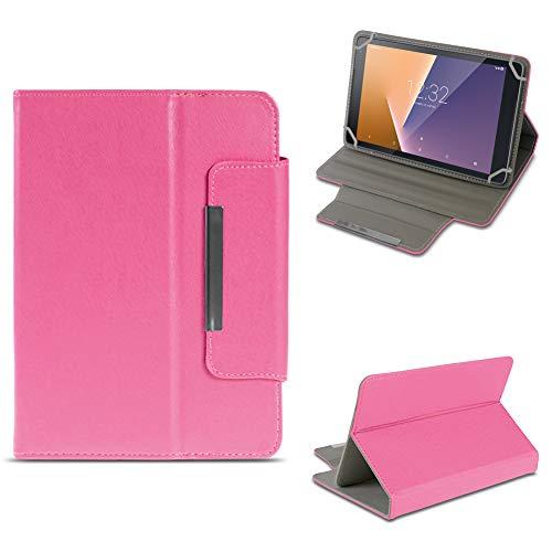 NAUC Tablet Tasche für Vodafone Smart Tab N8 Hülle Schutzhülle Hülle Schutz Cover Stand, Farben:Pink