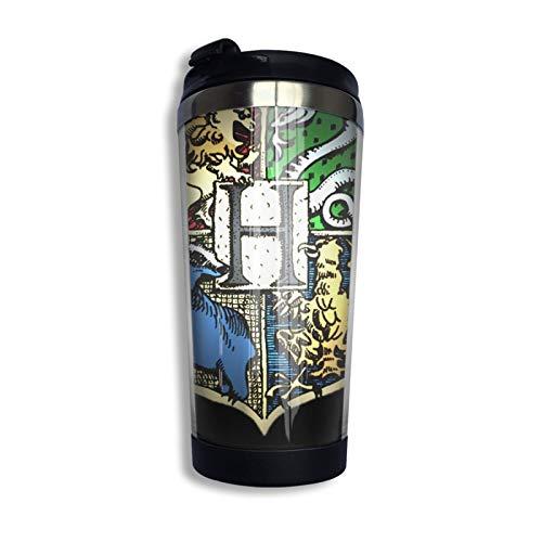 Harry Potter - Borraccia termica da viaggio, con isolamento termico, in acciaio inox, ideale per il caffè