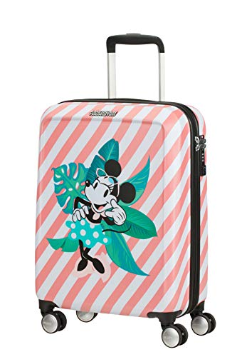 American Tourister Funlight Disney S Bagaglio a Mano, 55 cm, 36 L, Multicolore (Minnie Miami Holiday)