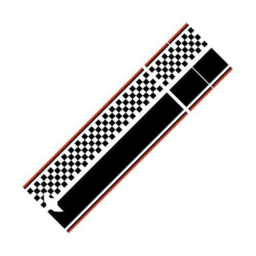 DMKJ para BMW para Mini para Cooper S One R55 R56 R60 R61 F54 F55 F56 F60 Countryman Clubman Calcomanía para Capó Delantero De Coche Pegatinas Rayas (Color : Negro, Talla : F60)