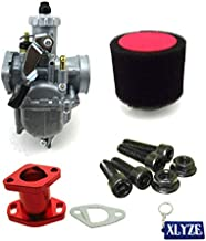 XLYZE Carburetor Air Filter Racing Intake Manifold Kit For Predator 212cc GX200 196cc Mini Bike Go Kart (Red)