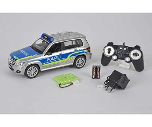 Carson 500907304 - 1:14 Mercedes Benz GLK Polizei 100% RTR, Ferngesteuertes Fahrzeug / Auto, Einsatzfahrzeug mit Funktionen Licht und Sound, inkl. Batterien und 2,4 Ghz Fernsteuerung