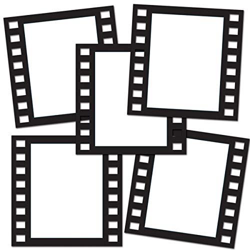 Beistle Filmstrip Awards Night Bilderrahmen, 30,5 cm, Schwarz, 5 Stück