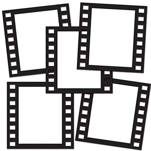 "Beistle Filmstrip Photo Fun Frames, 12"", Black"