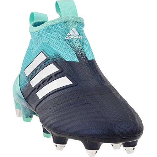adidas Mens Ace 17+ Purecontrol Soft Ground Soccer Casual Cleats, Blue, 8.5