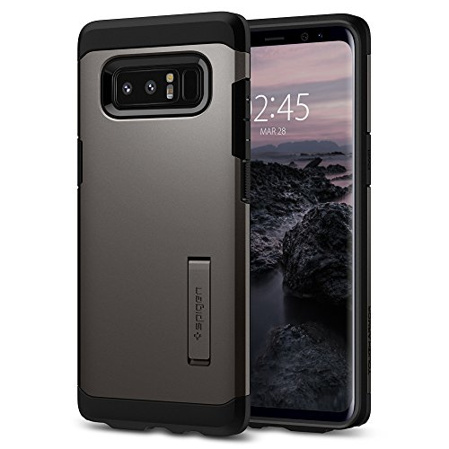 Samsung Galaxy Note 8 Case, Spigen [Tough Armor] Galaxy Note 8 Case with Kickstand and Extreme Heavy Duty Protection and Air Cushion Technology for Galaxy Note 8 (2017) - Gunmetal - 587CS22080