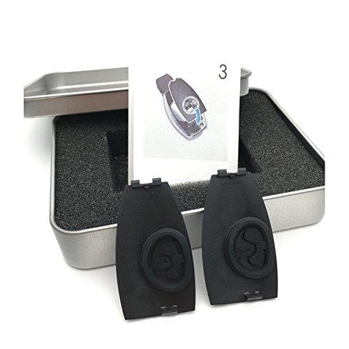 yika 2piezas Metal cromado Apple rbol emblemas insignia clave para funda para Benz A, B, C, E, S, g, GLS, CLA, Gla, M2, GLE clase A logotipo a0008900023apoyo la mayora de teclas de