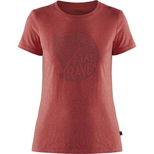 FJALLRAVEN Forever Nature T-Shirt W Camiseta, Mujer, Red, XS