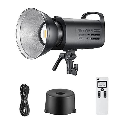 NEEWER Luz de Video LED Regulable de 100W 5600K, Iluminación Continua LED Balanceada con Luz Diurna de Montaje Bowens CRI 97+ 9500Lux...