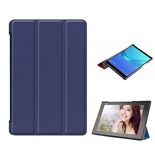 Sony Xperia Z2 Tablet ケース スマートカバー 三つ折 PUレザー スタンド機能付き 超薄型 軽量 マグネット式 傷つけ防止(ブルー)