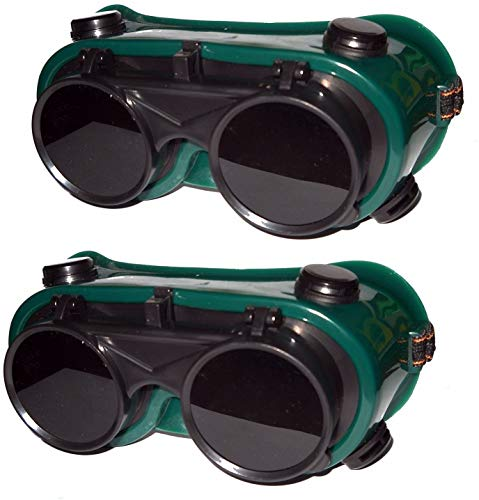 Inditrust Heavy duty Welding Safety Goggles - Pack of 2pcs (Free size)