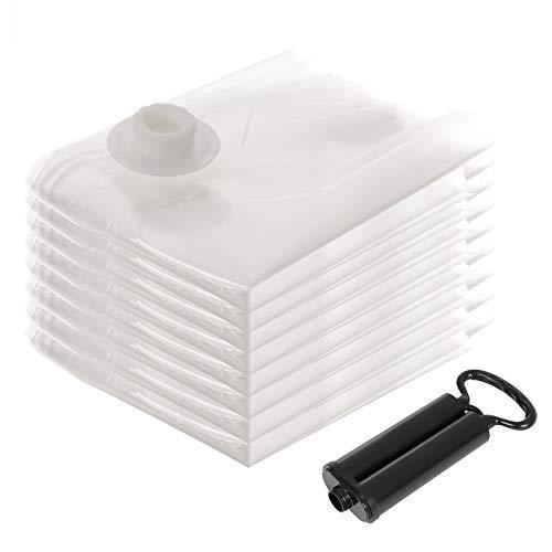 SONGMICS 8-TLG Vakuumbeutel Aufbewahrungsbeutel Kompressionsbeutel mit Pumpe, Wiederverwendbar für Bettwäsche, Kleidung, Kissen, Bettdecken, Vorhänge, Handtücher RVM081, 8 60 x 40 cm