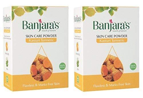 Banjaras Pure Herb Kasturi Turmeric Skin Care Powder 100g (Pack of 2)