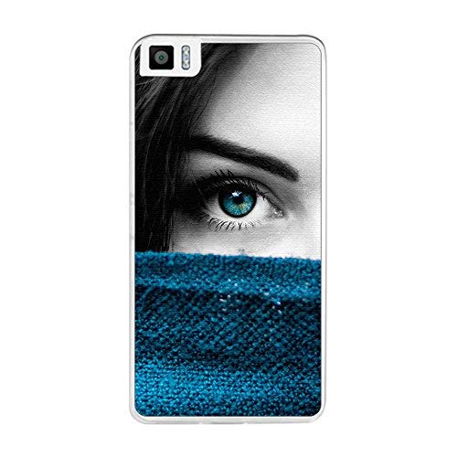 Tum&osmartphone Hülle Gel- TPU Hülle Für bq aquaris M5.5/M 2017 Design Muster - Auge