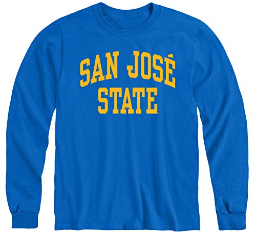 Ivysport San Jose State University SJSU Spartans Long Sleeve Adult Unisex T-Shirt, Classic, Royal Blue, Medium