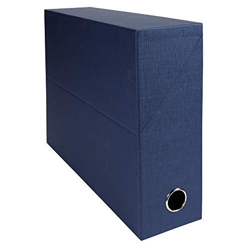 Exacompta 89527e recinto transferencia toilée 9cm azul oscuro