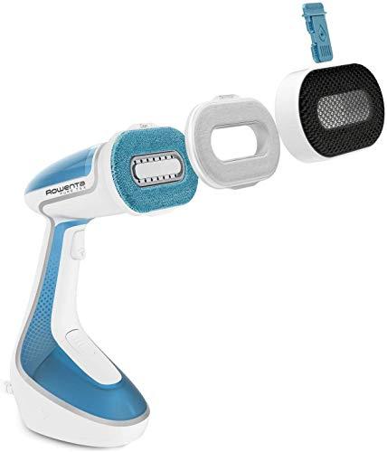 Rowenta Pure Tex DR9530 cepillo de vapor aromatizante sistema de cabezales intercambiables, acción 4 en 1: desinfecta, elimina arrugas, limpia y perfuma, apto para todos los textiles domésticos