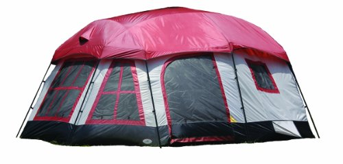 Texsport Highland 8 person 3 Room Family Camping Cabin Tent.